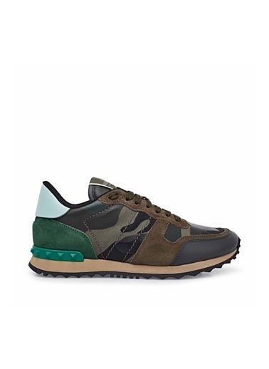 Valentino Deri Sneaker Ayakkabı Erkek Ayakkabı S0723 Tcc K22 Haki